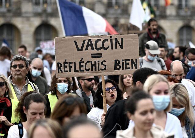 Manifestation anti pass sanitaire à Bordeaux, 31 juillet 2021