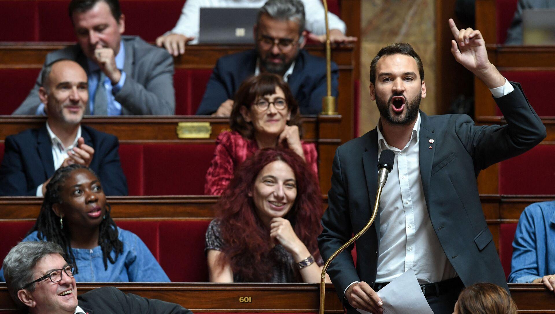 Ugo Bernalicis à l'Assemblée nationale, juillet 2019 - Sputnik France, 1920, 05.08.2021