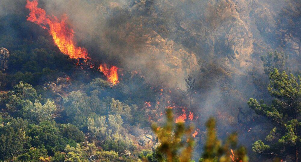 Les incendies en Turquie
