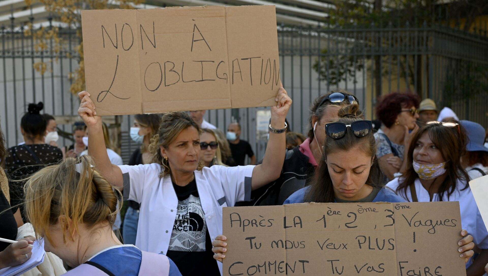 Manifestation soignants Marseille - Sputnik France, 1920, 24.08.2021