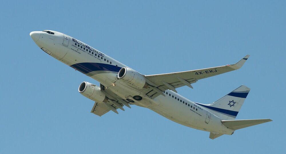 Un Boeing de la compagnie El Al. Image d'Illustration
