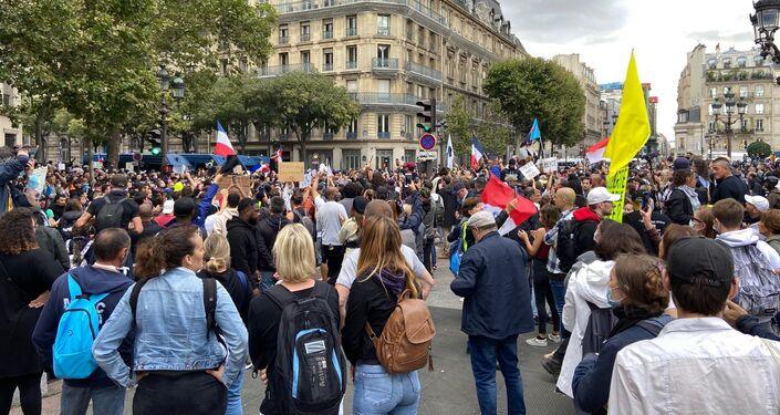 Quatrième week-end de mobilisation à Paris contre le pass sanitaire, 7 août 2021