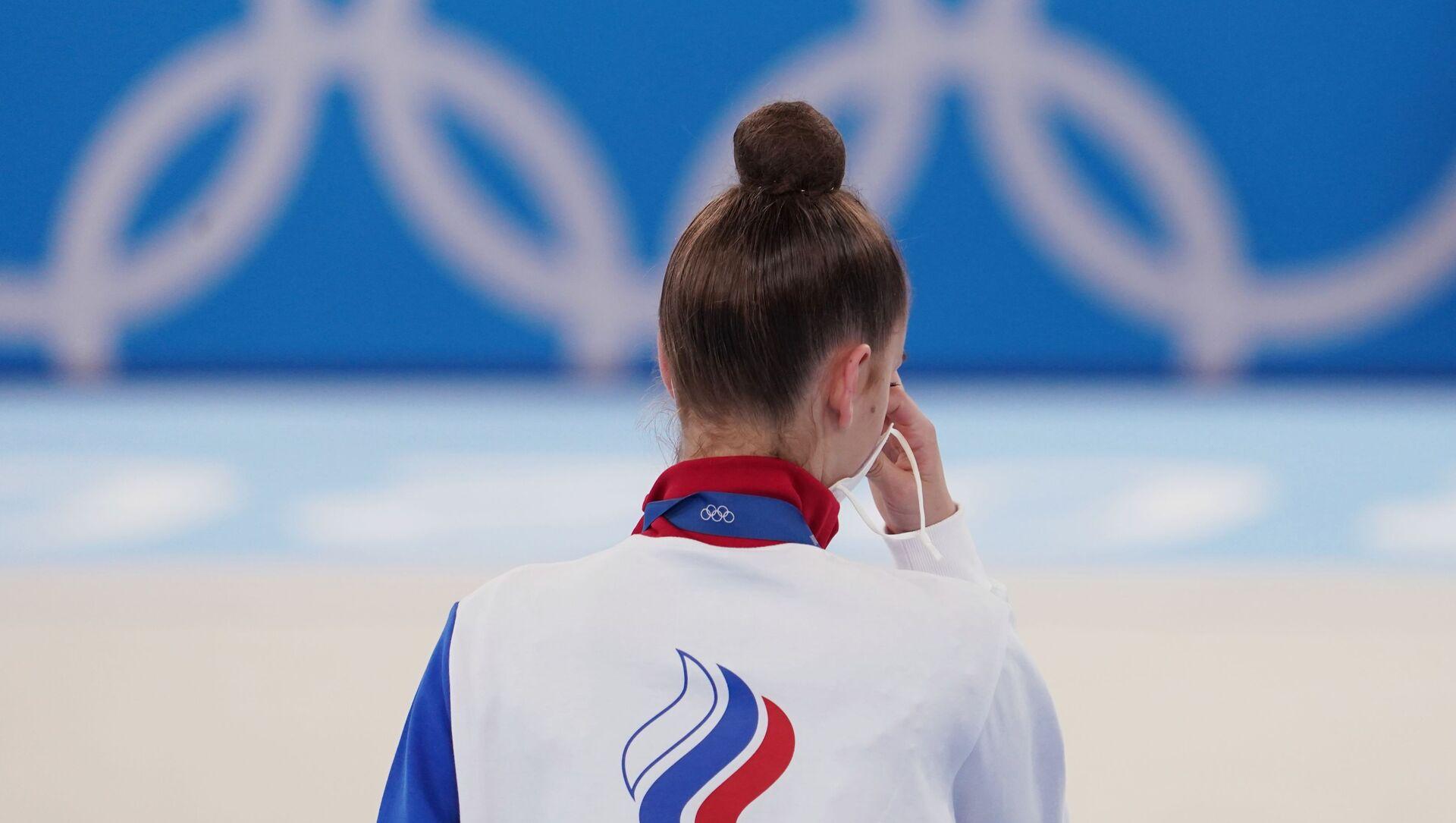 La gymnaste russe Dina Averina, médaille d'argent de l'épreuve individuelle aux Jeux olympiques de Tokyo (archive photo) - Sputnik France, 1920, 07.08.2021