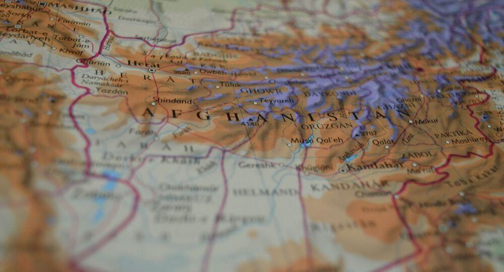 Afghanistan sur la carte
