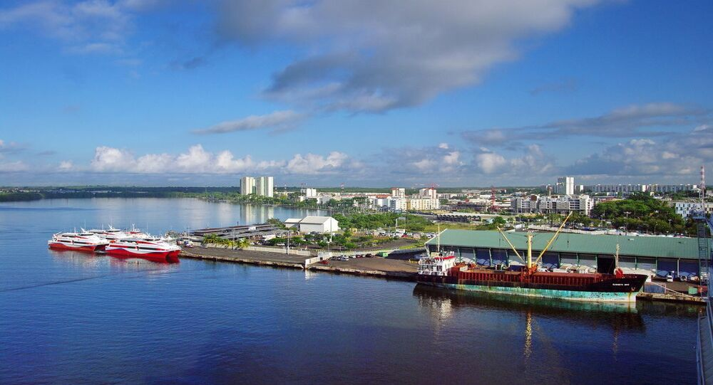 Gare maritime internationale de Bergevin à Pointe-à-Pitre, Guadeloupe