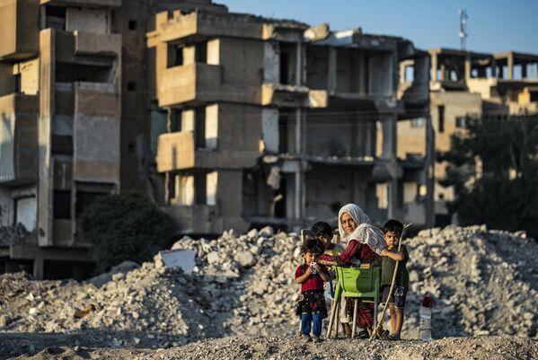 Des quartiers entiers ont été détruits à la suite des bombardements. - Sputnik France