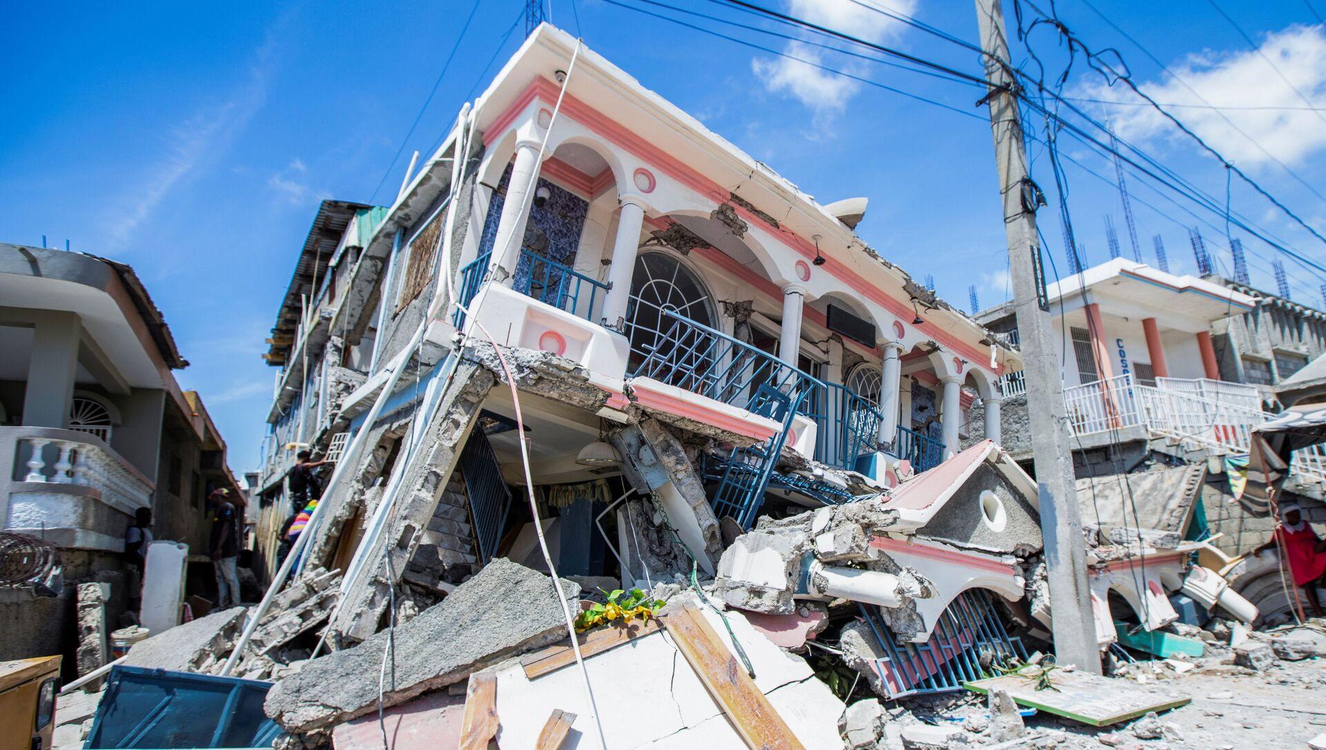 Destructions en Haïti après le séisme, le 14 août 2021 - Sputnik France, 1920, 17.08.2021