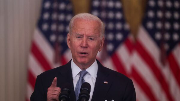 U.S. President Joe Biden delivers remarks on the crisis in Afghanistan during a speech in the East Room at the White House in Washington, U.S., August 16, 2021. - Sputnik France
