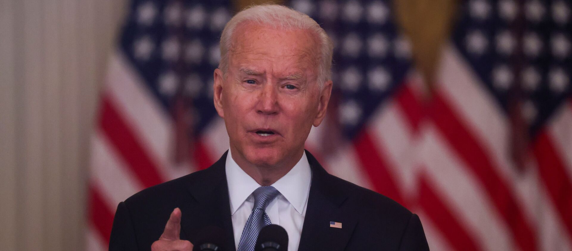 Le Président américain Joe Biden faisant un discours sur la situation en Afghanistan le 16 août 2021 - Sputnik France, 1920, 17.08.2021