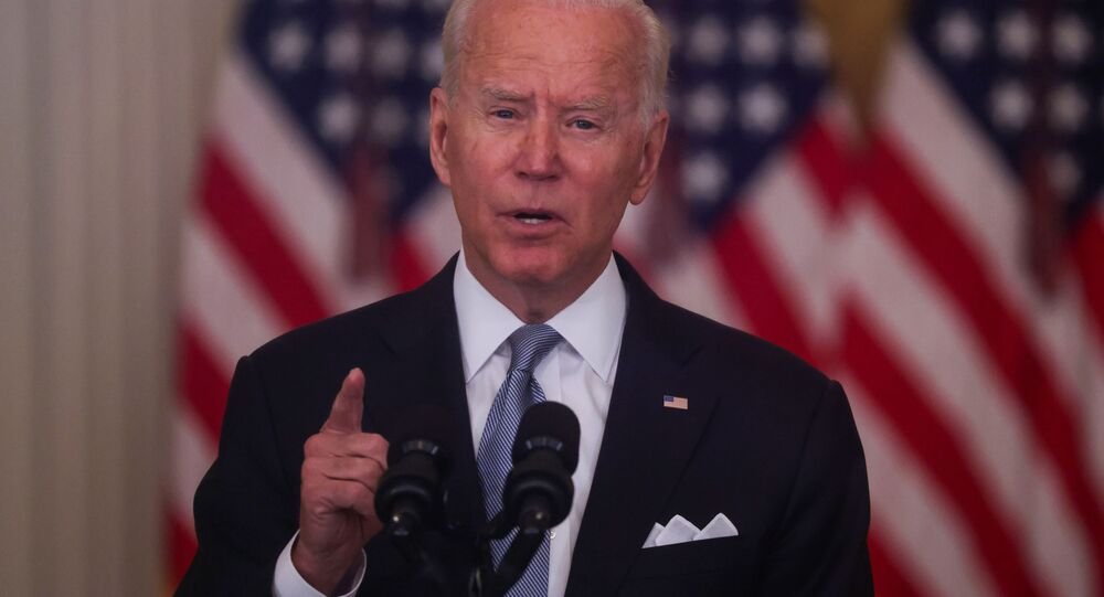 Le Président américain Joe Biden faisant un discours sur la situation en Afghanistan le 16 août 2021
