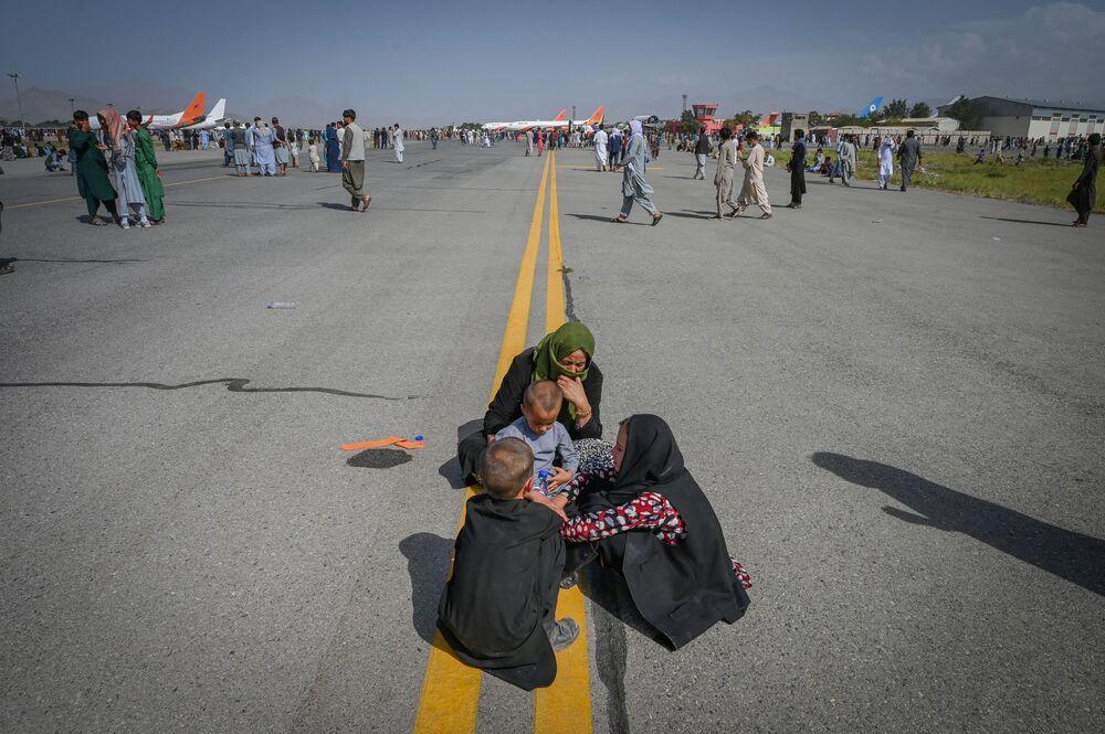 A l'aéroport de Kaboul