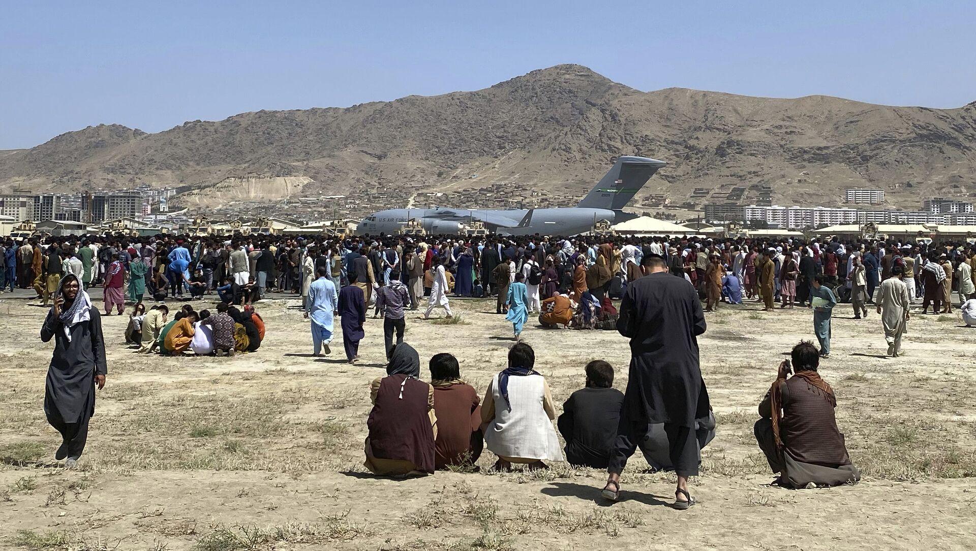 L'aéroport de Kaboul, le 16 août 2021 - Sputnik France, 1920, 04.09.2021