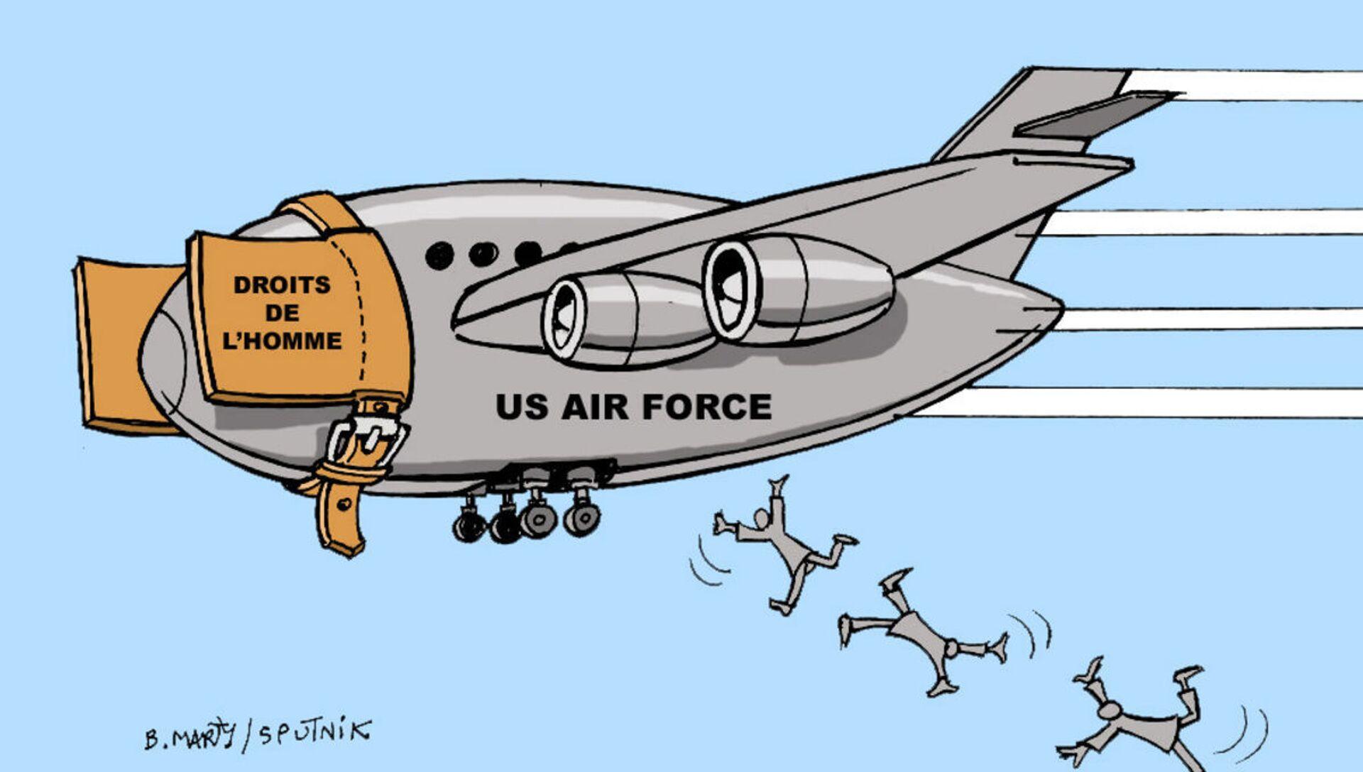Afghanistan: les droits de l'homme jetés par les fenêtres des avions américains en fuite - Sputnik France, 1920, 18.08.2021