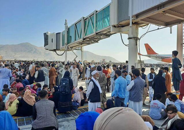 Aéroport de Kaboul le 16 août