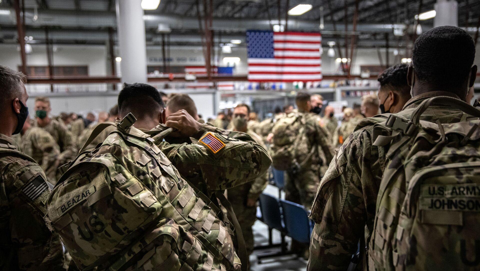 Des soldats américains rentrent à New York après avoir passé 9 mois en Afghanistan - Sputnik France, 1920, 22.08.2021