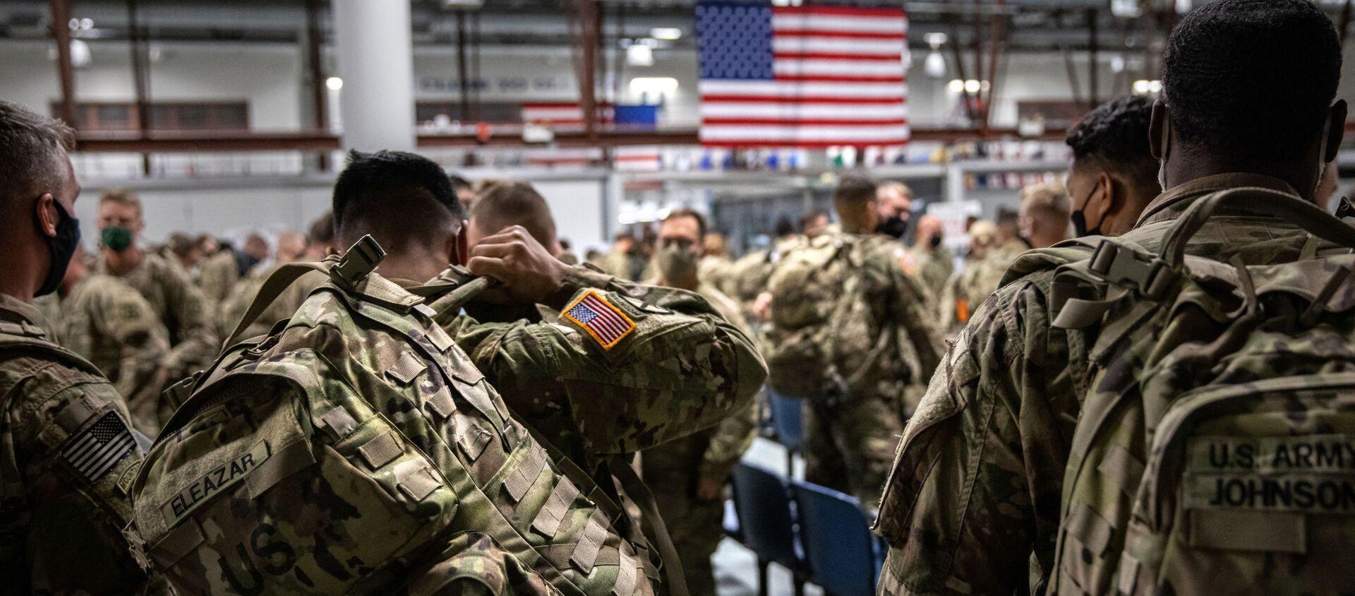 Des militaires US arrivent à Fort Drum, près de New York, après avoir passé neuf mois en Afghanistan en 2020 - Sputnik France, 1920, 23.08.2021