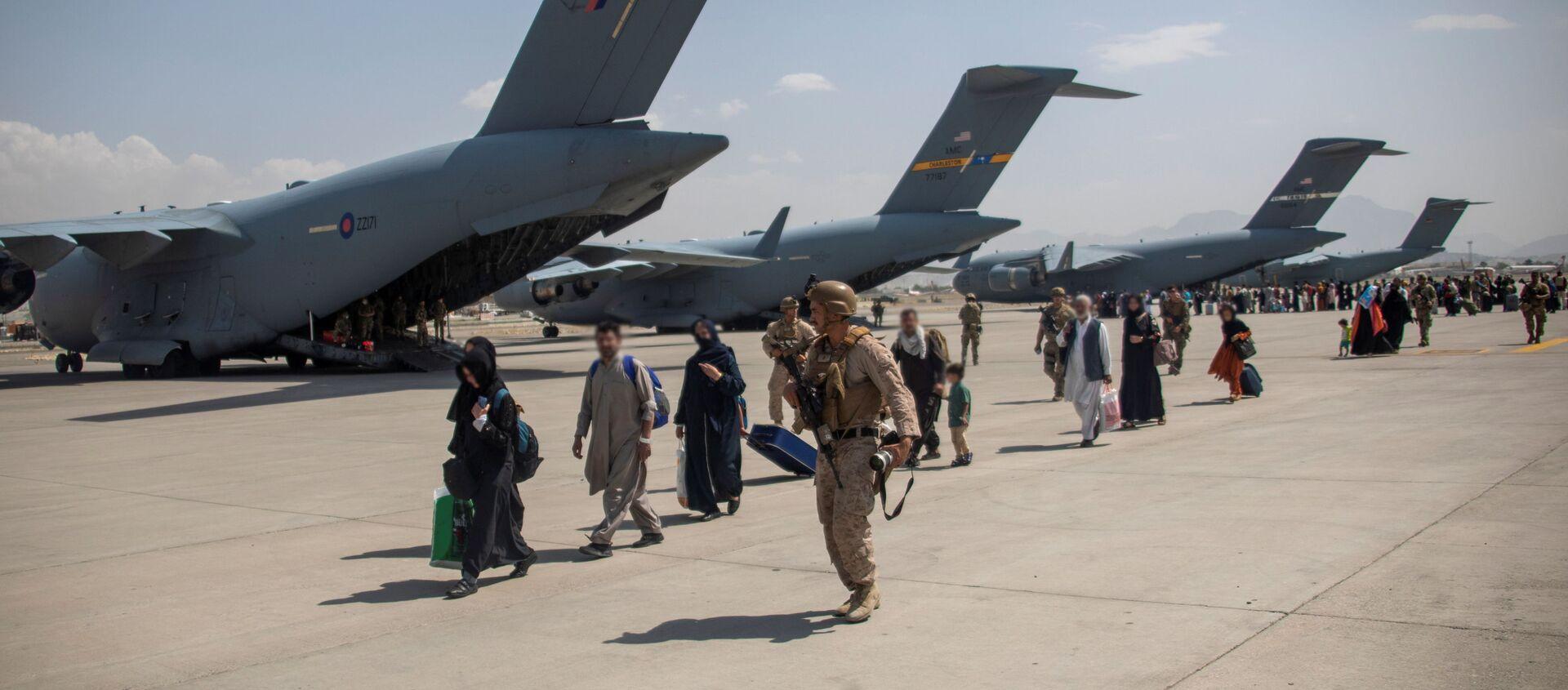 l'évacuation des civils afghans depuis Kaboul (image d'illustration) - Sputnik France, 1920, 26.08.2021