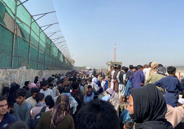 L'aéroport de Kaboul, le 23 août 2021