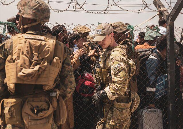Évacuation à l'aéroport Hamid Karzai de Kaboul (archive photo)