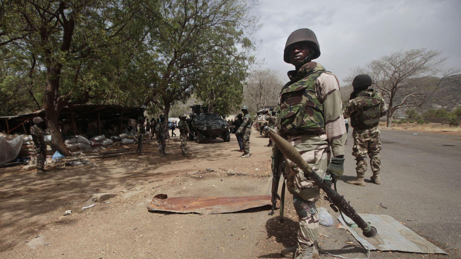 Des soldats nigérians à un poste de contrôle de Gwoza, au Nigeria - Sputnik France, 1920, 27.08.2021