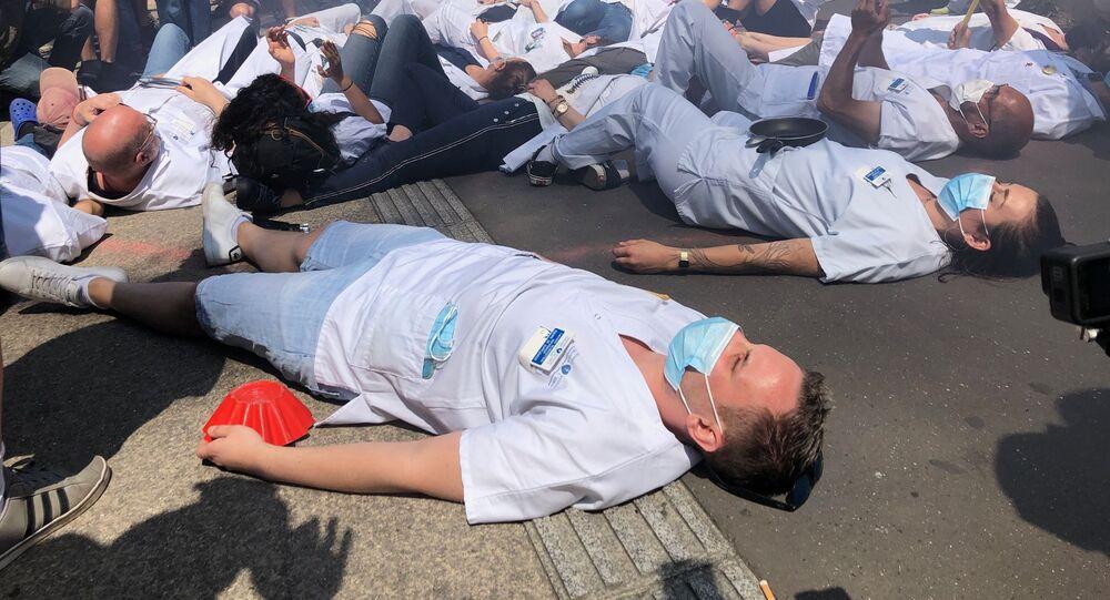 Les soignants manifestent pour l'Hôpital Public, mai 2020