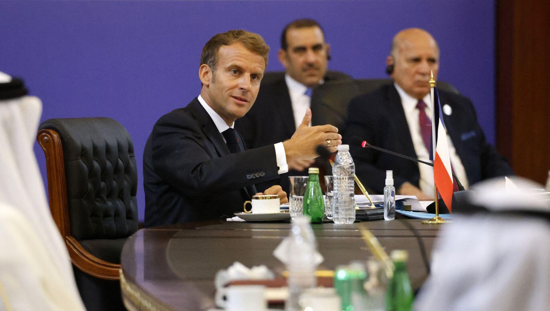 Emmanuel Macron lors d'un déplacement à Bagdad - Sputnik France, 1920, 28.08.2021