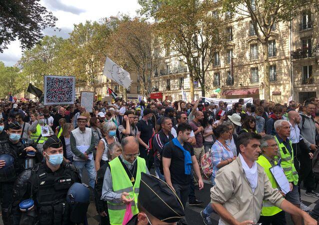 Septième week-end consécutif de mobilisation anti-pass sanitaire à Paris, 28 août 2021