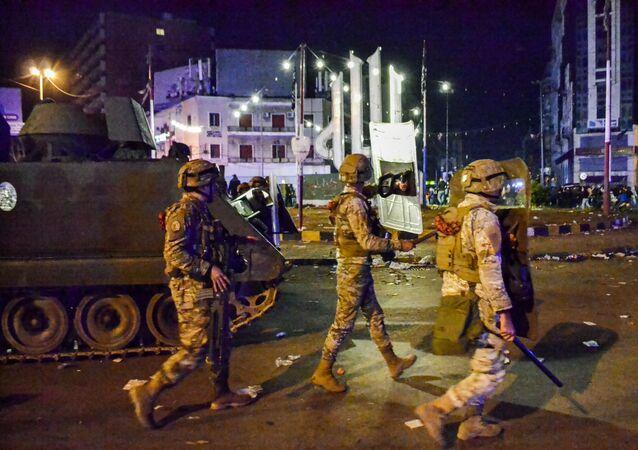 Forces de l'ordre libanaises à Tripoli