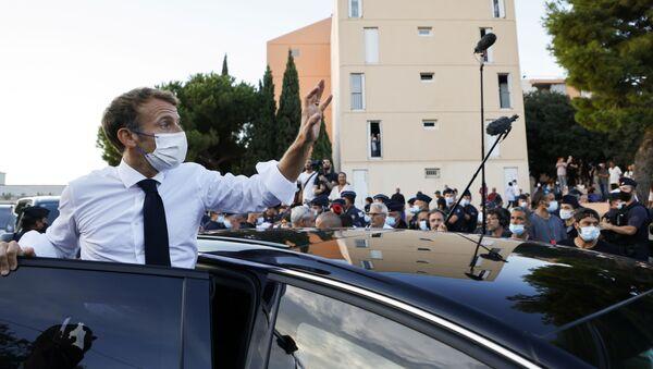 Emmanuel Macron lors de sa visite à Marseille, le 1er septembre 2021 - Sputnik France