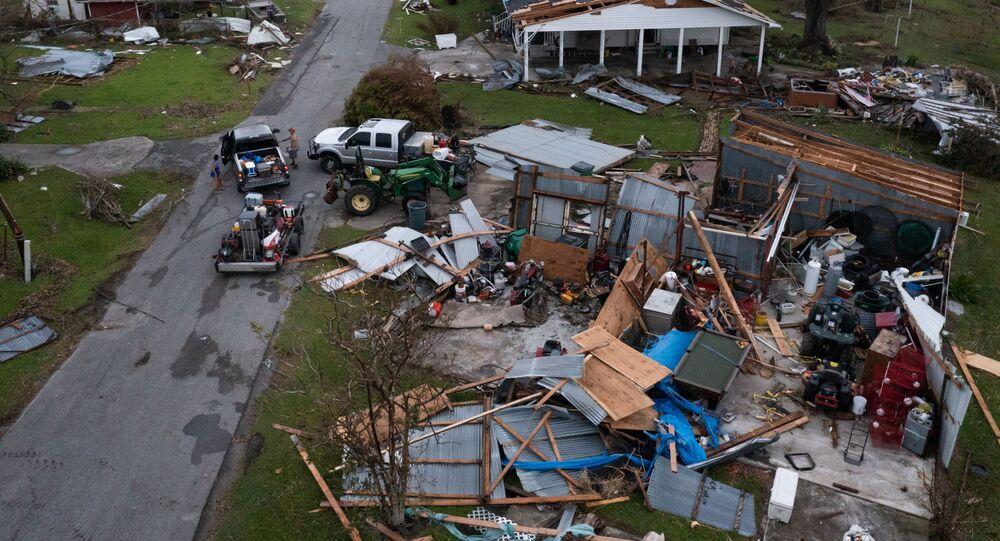 Louisiane après le passage de l'ouragan Ida.  États-Unis.