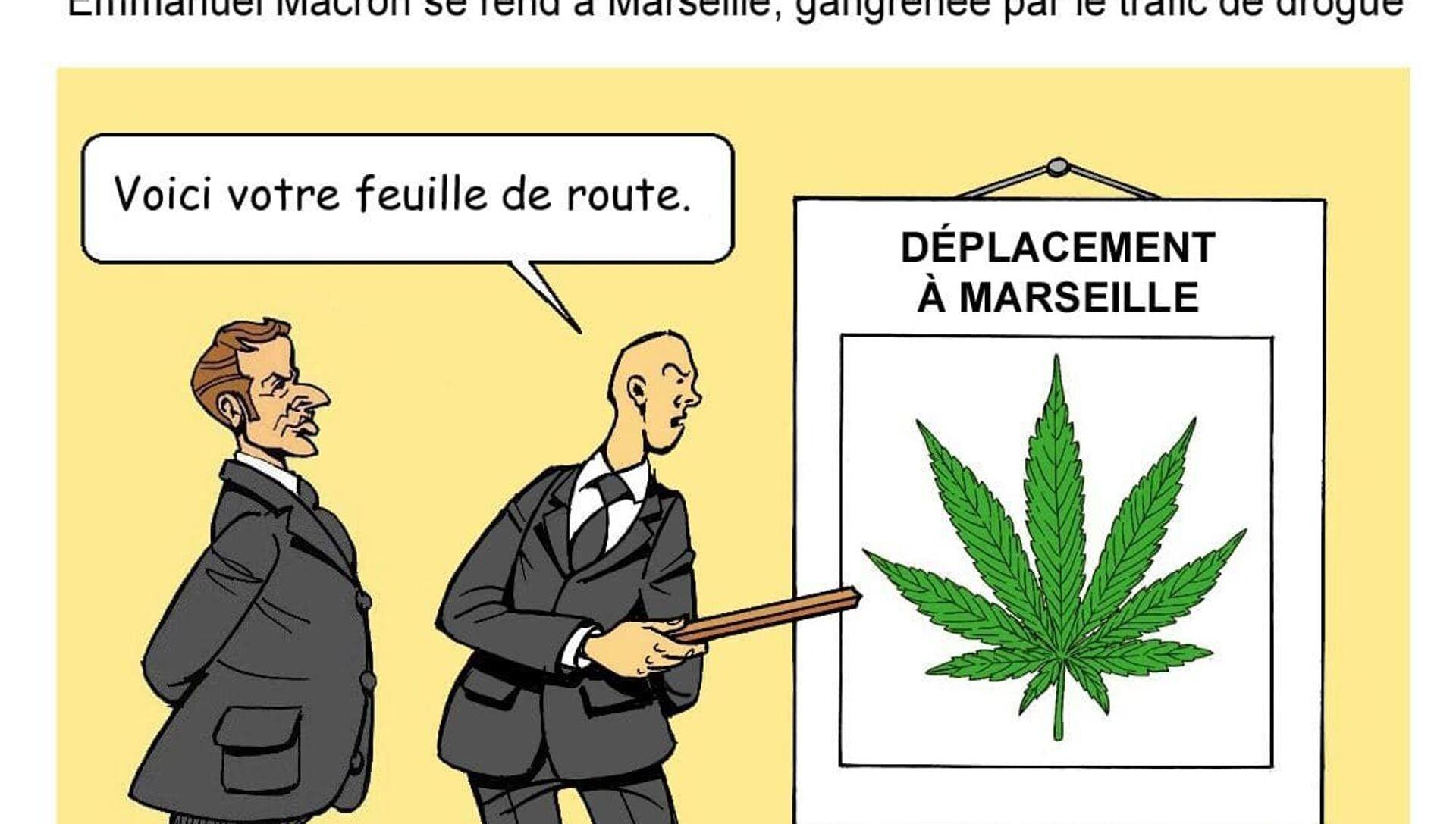 Visite d'Emmanuel Macron à Marseille: un écran de fumée?  - Sputnik France, 1920, 02.09.2021