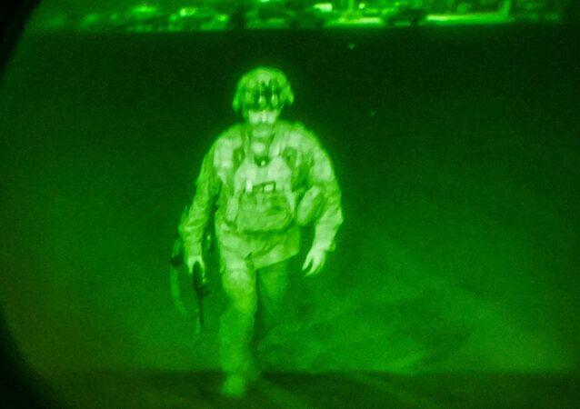 Le dernier soldat américain quittant Kaboul, le 30 août 2021