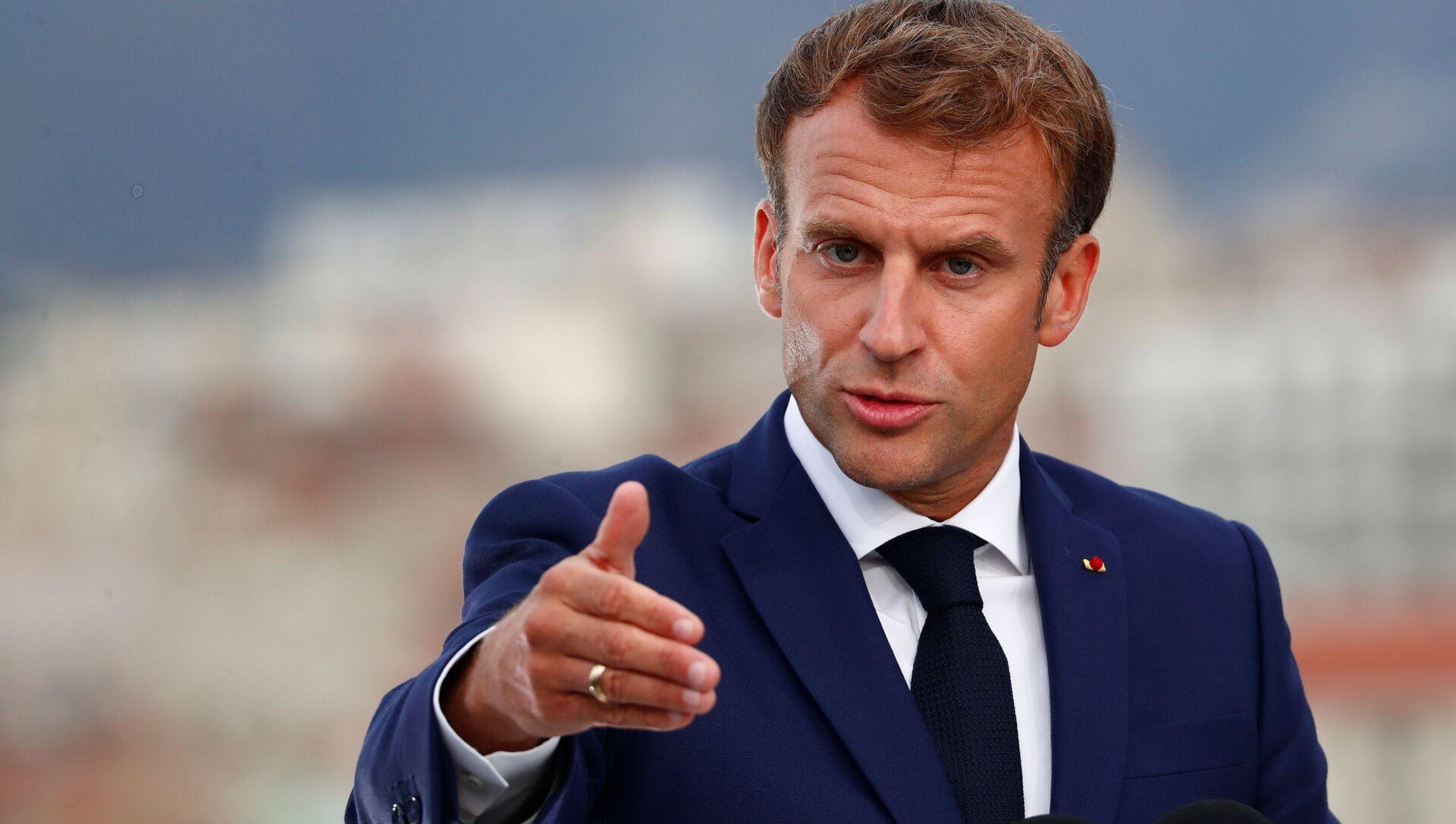 Emmanuel Macron lors de sa visite à Marseille - Sputnik France, 1920, 05.09.2021