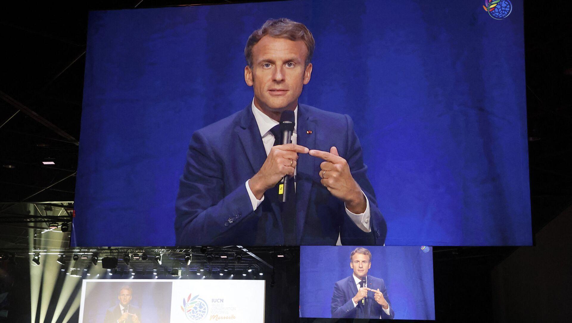 Discours inaugural d'Emmanuel Macron au congrès mondial de la nature de l'IUCN - Sputnik France, 1920, 07.09.2021