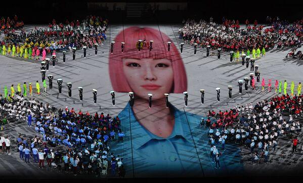 La cérémonie de clôture s'est déroulée au Stade national de Tokyo devant des tribunes vides. - Sputnik France
