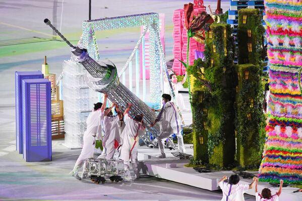 À cause de la pandémie de Covid, les Jeux paralympiques de 2020 se sont déroulés du 24 août au 5 septembre 2021! Sur la photo: représentation théâtrale lors de la cérémonie de clôture. - Sputnik France