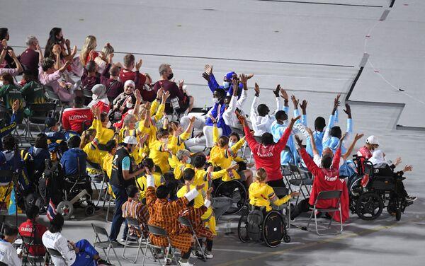 Athlètes au Stade national de Tokyo avant la cérémonie de clôture des XVIes Jeux paralympiques d'été. - Sputnik France