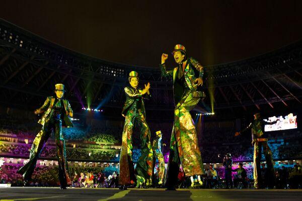 Représentation théâtrale lors de la cérémonie de clôture des XVIes Jeux paralympiques d'été à Tokyo. - Sputnik France