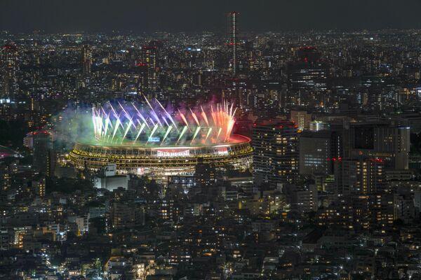 Initialement, les XVIes Jeux paralympiques d'été devaient se tenir en 2020. Mais, en raison de la pandémie de coronavirus, ils ont été reportés à 2021. Sur la photo: feu d'artifice lors de la cérémonie de clôture des XVIes Jeux paralympiques d'été à Tokyo. - Sputnik France