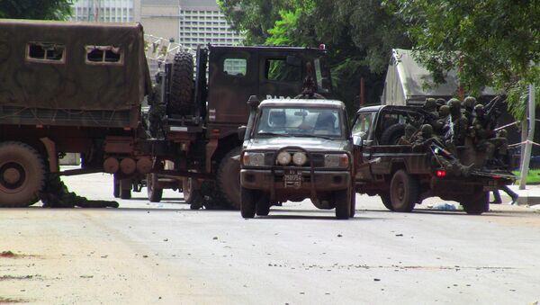Le Groupement des forces spéciales (GFS), dirigé par le colonel Doumbouya, a annoncé dimanche l'éviction d'Alpha Condé - Sputnik France