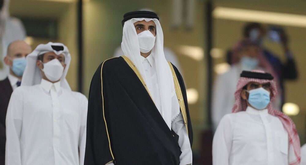 L'émir du Qatar, cheikh Tamim ben Hamad al Thani
