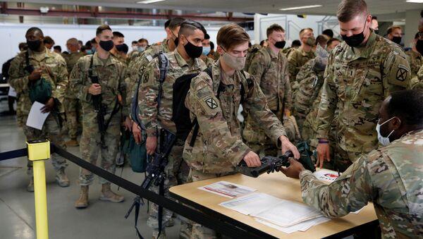 Soldats américains après leur retour d'Afghanistan - Sputnik France