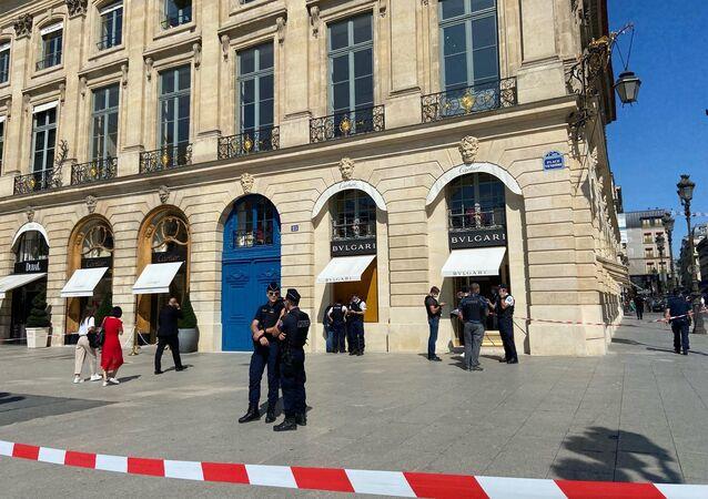 Important braquage de bijouterie place Vendôme, situation sur place, le 7 septembre 2021