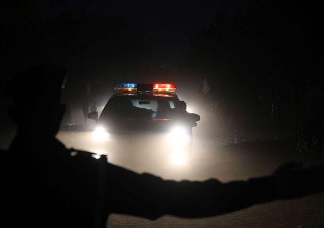 Une voiture de police à Ouagadougou, image d'illustration