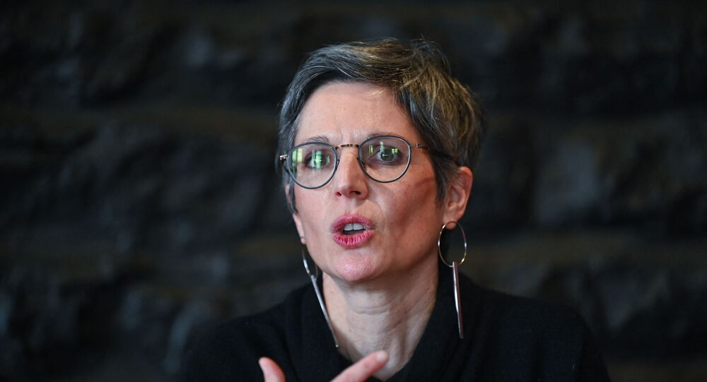 La candidate à la primaire écologiste Sandrine Rousseau