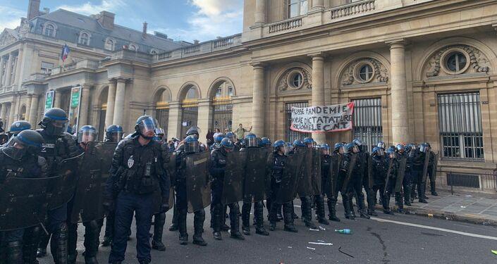 Neuvième week-end de mobilisation contre le pass sanitaire à Paris, le 11 septembre 2021