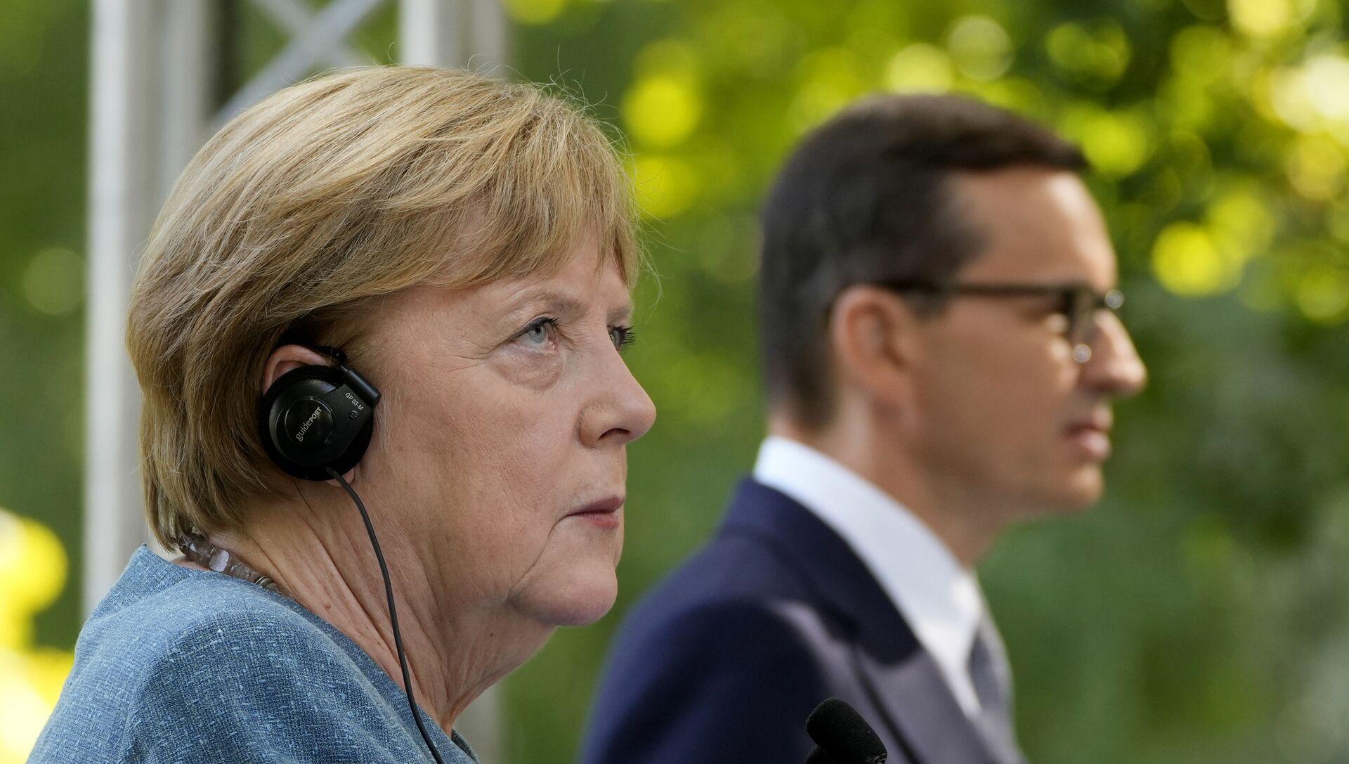 Angela Merkel et Mateusz Morawiecki, le 11 septembre 2021 - Sputnik France, 1920, 13.09.2021