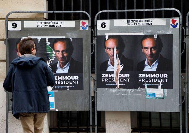 Des affiches «Zemmour président» à Paris