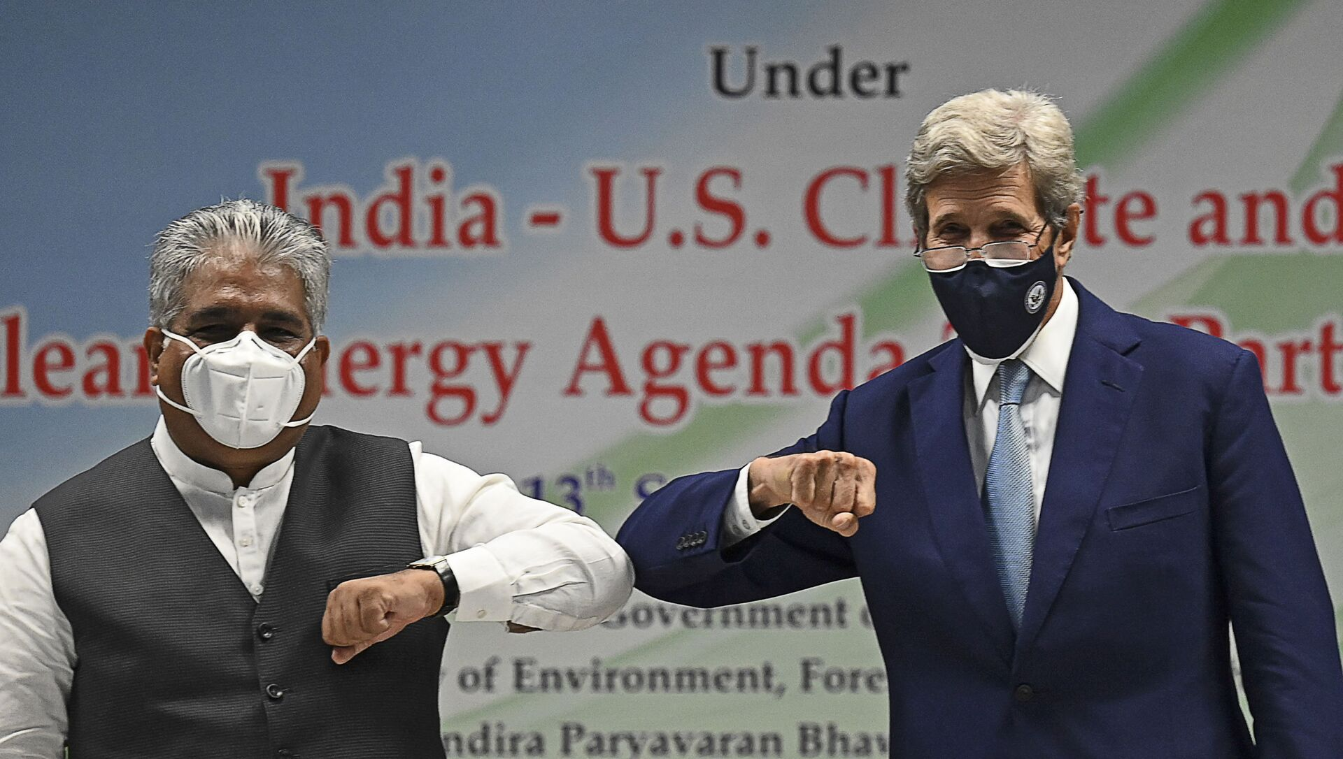 Bhupender Yadav et John Kerry - Sputnik France, 1920, 14.09.2021