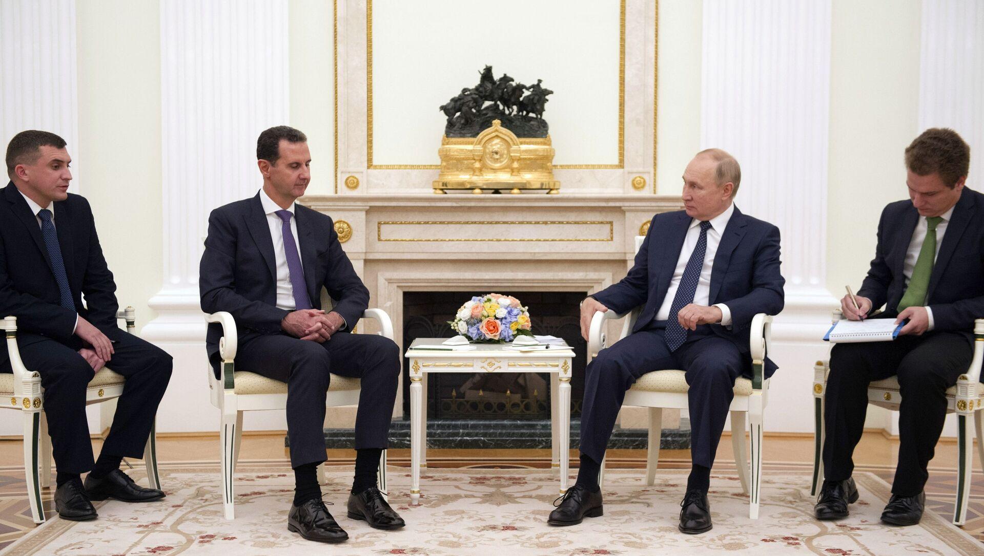 Le Président Poutine et le Président Assad à Moscou, le 13 septembre 2021 - Sputnik France, 1920, 14.09.2021